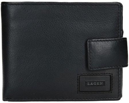 Lagen Férfi bőr pénztárca LG-10299 Black