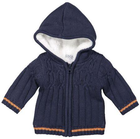 Dirkje chłopięcy sweter z futerkiem 104 niebieski