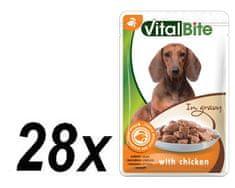VitalBite hrana za pse s okusom, 28 x 85 g