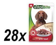 VitalBite hrana za pse s okusom govedine, 28 x 85 g