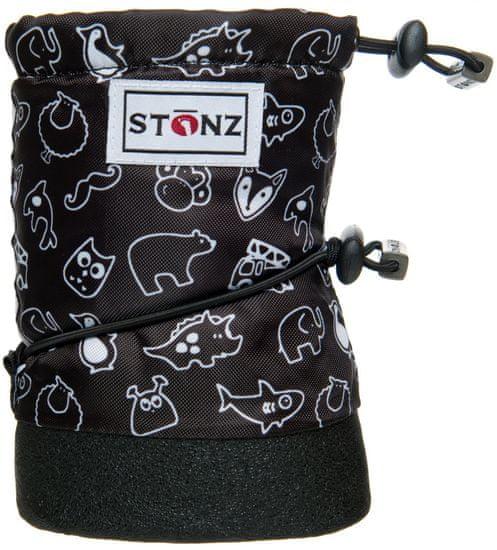 Stonz chlapecké nepromokavé capáčky/návleky/sněhule Print 18 černá