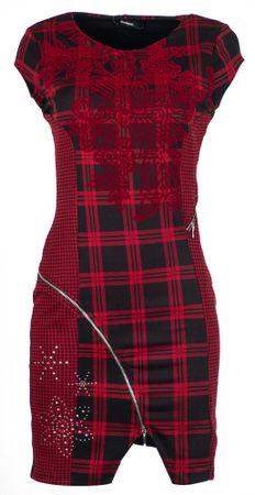 Desigual ženska haljina Roma, crvena, XL