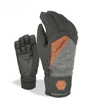 LEVEL moške rokavice Cruise PK Black, sive, 8,5, M/L