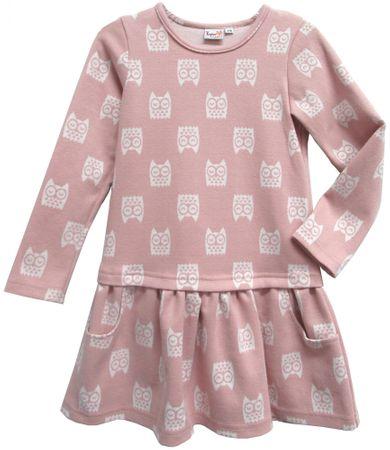 Topo dekliška obleka, 92, roza