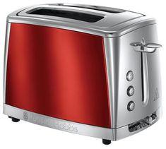 Russell Hobbs pekač kruha 23220-56/RH Luna Toaster 2SL Red