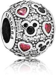 Pandora Myszka Disney Mickey Mouse Silver Glitter 791457EN srebro 925/1000