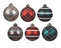 Kaemingk Sada 12 ks vianočných ozdôb, sklenené, mix