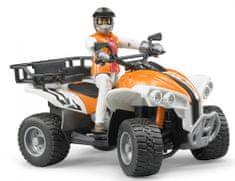 Bruder ATV Quad z voznikom, 63000