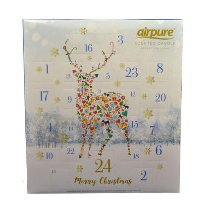 Airpure Airpure Adventní kalendář vonných svíček Jelen