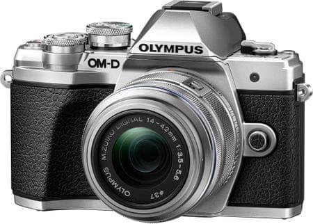Olympus aparat E-M10 Mark III + 14-42 II R + 40-150 R Silver