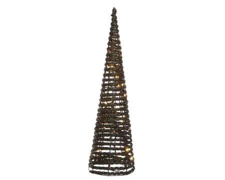 """Kaemingk LED svetelná dekorácia """"Pyramída"""", 32 x LED, hnedý ratan"""