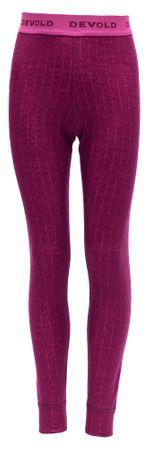 Devold Dziewczęce legginsy termoaktywne Johns 152 różowy