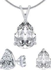 Silvego Stříbrný set šperků s čirým křišťálem JJJS8888 (náušnice, přívěsek) stříbro 925/1000