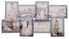 """Kaemingk obraz podświetlany LED """"Kolaż Wesołych Świąt!"""""""