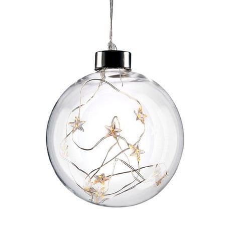 Solight 10 LED vianočná guľa sklenená