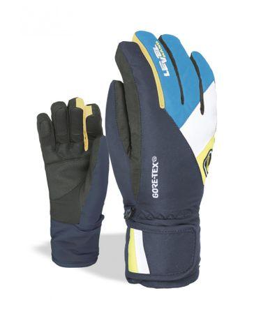 LEVEL detské rukavice Force XXL čierna/modrá