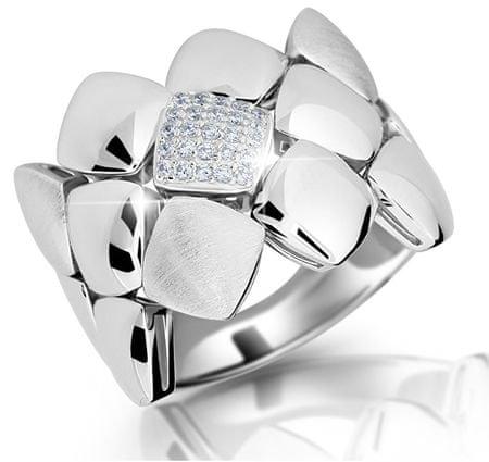 Modesi Dizajnový prsteň zo striebra M13045 (Obvod 54 mm) striebro 925/1000