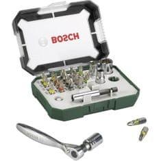 Bosch komplet vijačnih nastavkov z ragljo (2607017322), 26-delni