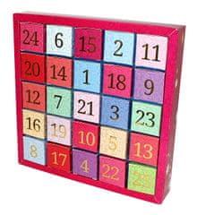 English Tea Shop Adventní kalendář 25 kostek - Číselný adventní kalendář