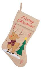 Kaemingk dekoracja świąteczna Skarpeta z reniferem, beżowa