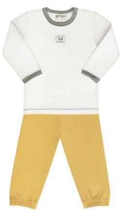 Nini chlapecké pyžamo 80 žlutá/bílá