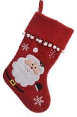 """Kaemingk Vánoční punčocha """"Santa Claus"""" - červená"""