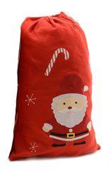 Kaemingk Plstěný pytel na dárky Xmas - Santa, červený