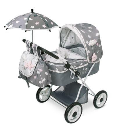 DeCuevas SKY-M Skládací kočárek pro panenky s deštníkem