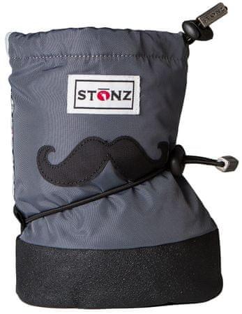 Stonz otroški nepremočljivi copati / snežni čevlji Moustache, S, sivi