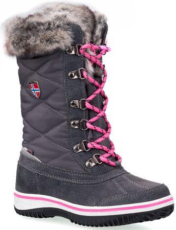 Trollkids śniegowce dziecięce Holmenkollen steel grey/magenta 28