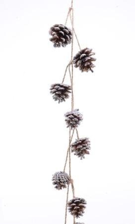 Kaemingk Girlanda z szyszkami i brokatem