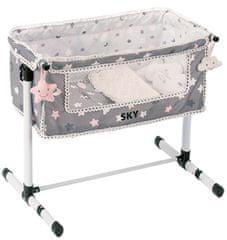 DeCuevas SKY Łóżko noworodkowe dla lalek z akcesoriami