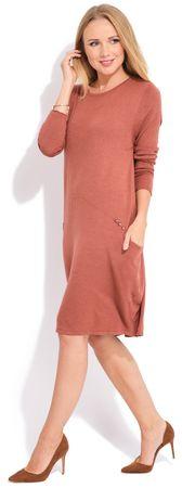 FILLE DU COUTURIER ženska obleka Daniela, 44, oranžna