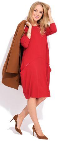 FILLE DU COUTURIER ženska obleka Daniela, 44, rdeča