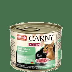 Animonda Carny Junior konzerva pro kočky kuřecí+králík 200g