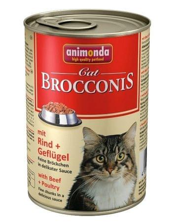 Animonda Brocconis konzerva pro kočky hovězí+drůbež 400g