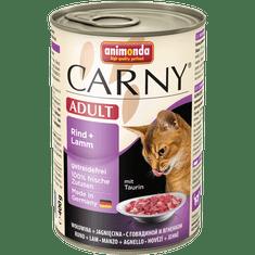 Animonda Carny konzerva pro kočky hovězí+jehně 400g
