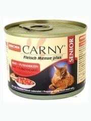 Animonda Carny Senior konzerva pro kočky hovězí+krůtí srdce 200g