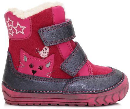 d2add42ce D-D-step dievčenské zimné topánky s mačičkou 19 ružová   MALL.SK