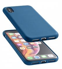 CellularLine Sensation ovitek za iPhone XS Max, silikonski, moder