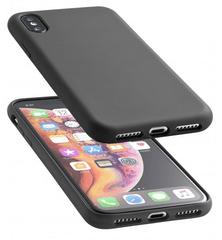 CellularLine Sensation ovitek za iPhone XS Max, silikonski, črn