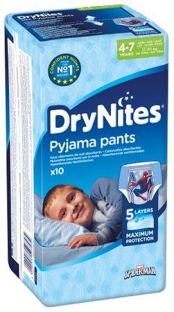 Huggies hlačne plenice Dry Nites Medium 4-7 let (17-30 kg) za fantke 10 kos