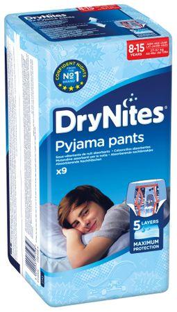 Huggies hlačne plenice Dry Nites Large 8-15 let (27-57 kg) za fantke 9 kos