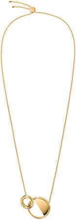 Calvin Klein Luxus aranyozott nyaklánc Locked KJ8GJN100100