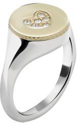 Morellato Oceľový bicolor prsteň Monetine SAHQ09