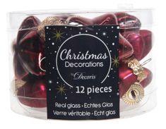 Kaemingk Vánoční ozdoby mini hvězdičky červené 12 ks