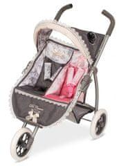 DeCuevas trikolesni voziček za dvojčka dvojčka Reborn 2018