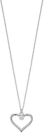Morellato Romantična srebrna ogrlica Cuori SAIV21 (veriga, obesek) srebro 925/1000