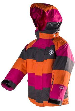 PIDILIDI detská lyžiarska bunda 104 ružová/červená