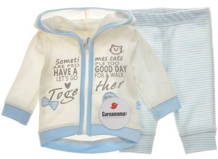 Garnamama dievčenský dojčenský set 56 béžová/modrá